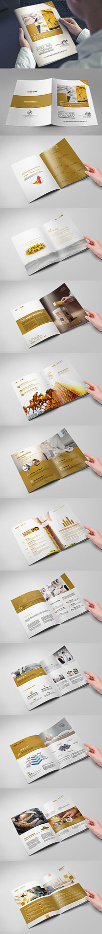 大气金融理财平台画册版式设计