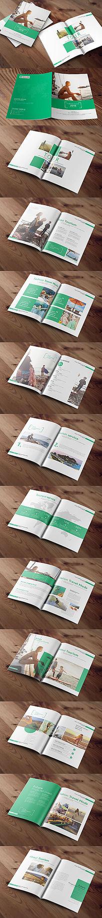绿色个性旅游画册