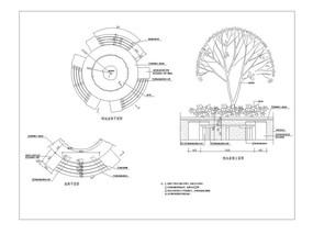 圆形树池座椅cad