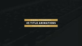 45组字幕条标题文字动画包装视频模