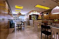 现代时尚快餐店模型