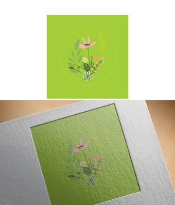 绿色清新花卉logo