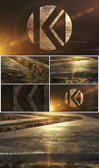 三维金属电影Logo展示AE模板