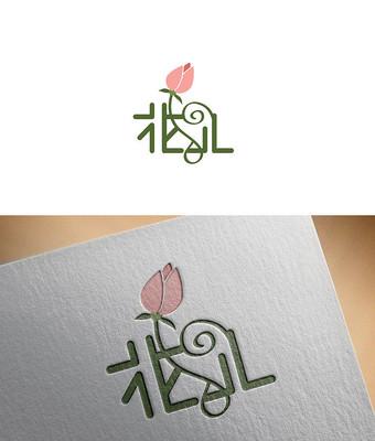 唯美花朵logo