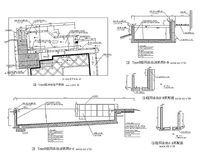 不规则庭园游泳池施工图 CAD