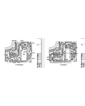 方形游泳池详图CAD平面