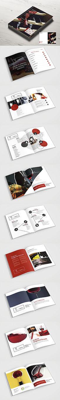 红色高端红酒画册设计