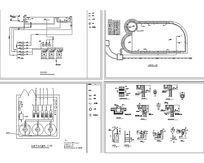 游泳池管路机房布置图CAD