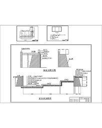 游泳池墙体剖面施工图 CAD