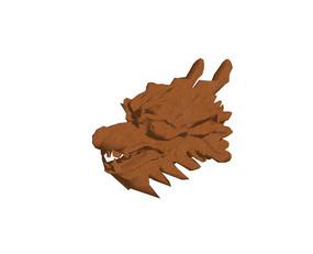 木雕龙头图