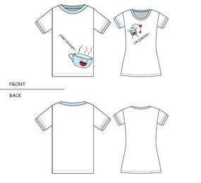 茶杯與茶包情侶裝T恤款式圖案設計