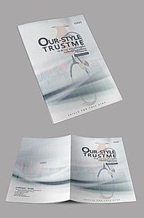 白色时尚医疗企业封面设计