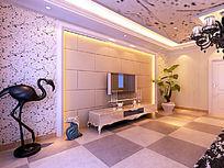 现代欧式风格背景墙装修设计模型素材