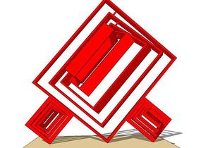 中国结木雕小品模型