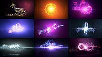 9款粒子光效字幕动画ae模板