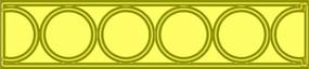 回廊圆形图案镂空精雕模板