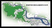 鹿城区现代服务业集聚区分布图