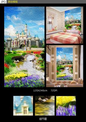 迪士尼卡通画壁画背景墙