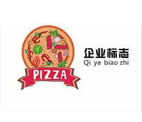 披萨美食餐饮标志LOGO设计CDR模板下载