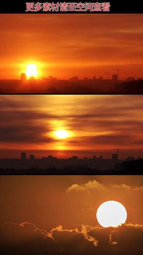 太阳升起高清视频素材