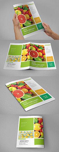 绿色水果画册封面