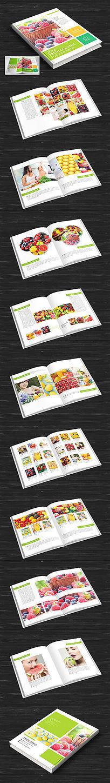时尚翠绿色水果画册