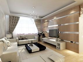 3d客厅现代模型下载