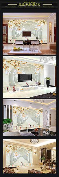 3D视觉立体电视背景墙
