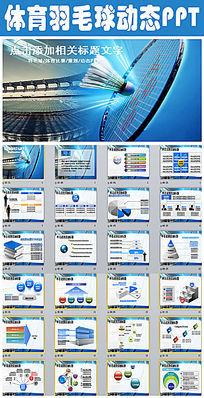 体育营销羽毛球营销策划动画PPT模板