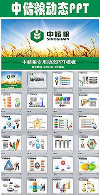 中储粮专用工作汇报年终总结ppt模板