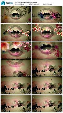 江南水乡蝴蝶花瓣中国风背景视频