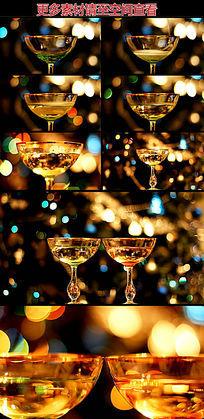 酒杯倒香槟高清实拍视频素材