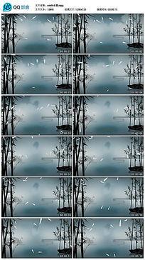 竹林水墨背景视频