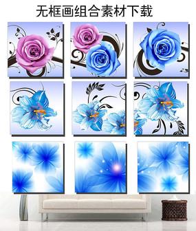 玫瑰花花朵无框画装饰画图片设计下载