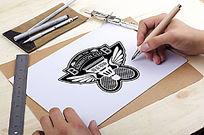 羽毛球俱乐部logo设计模板