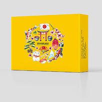 日本日式风格美食食品料理包装设计