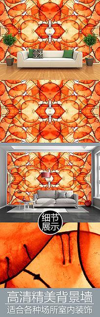 抽象半透明叶片梦幻电视背景墙
