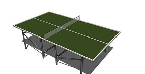 简约乒乓球桌模型