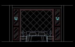 床頭背景墻CAD