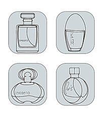创意线性香水瓶图标