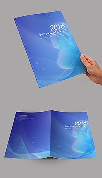 蓝色弧线艺术封面