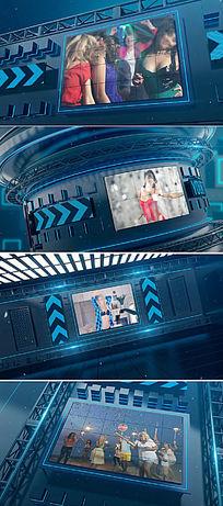 大型三维led屏视频开场片头视频模板