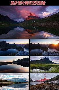 高山湖泊水流高清实拍视频素材