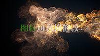 中国风水墨烟雾logo标志展示ae模板