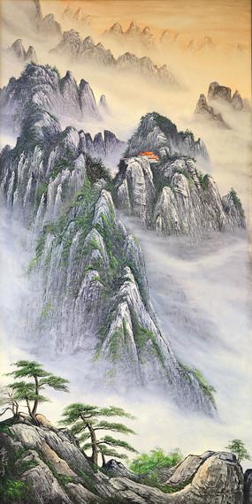 高山云雾风景