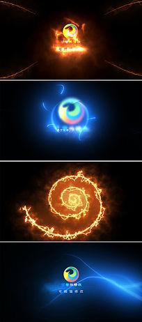 震撼粒子光效logo文字图标演绎ae模板