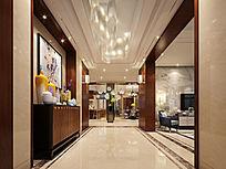 新中式门厅3d模型