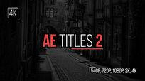 多组简洁文字排版动画AE模板