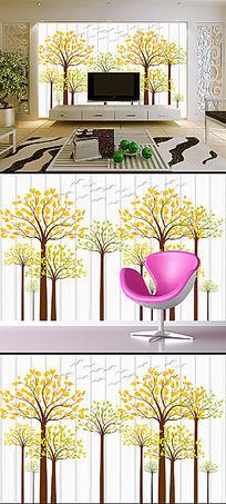 立体创意抽象树电视背景墙装饰画