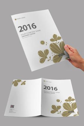 金色唯美花朵设计封面